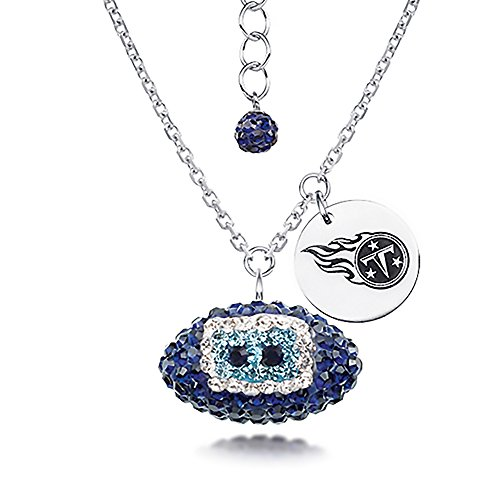Tennessee Titans Silver Metal (Silver Pendant, Nfl Tennessee Titans Football Necklaces)