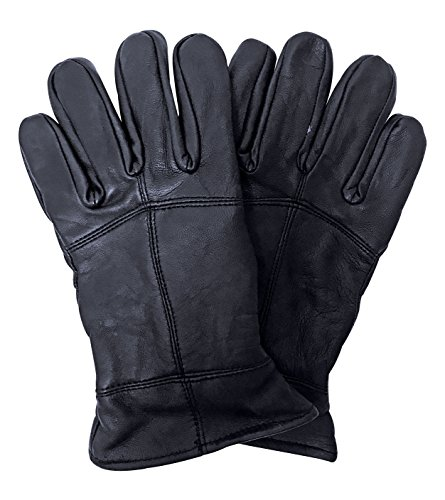 Mens 3M Thinsulate 40 gram Thermal Insulated Fleece Lined Winter Leather Gloves (Large/X-Large, Leather Gloves)
