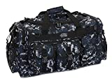 Mens Large 26″ Inch ACU Navy Digital Camo Duffel Duffle Military Molle Tactical Gear Shoulder Strap Travel Bag