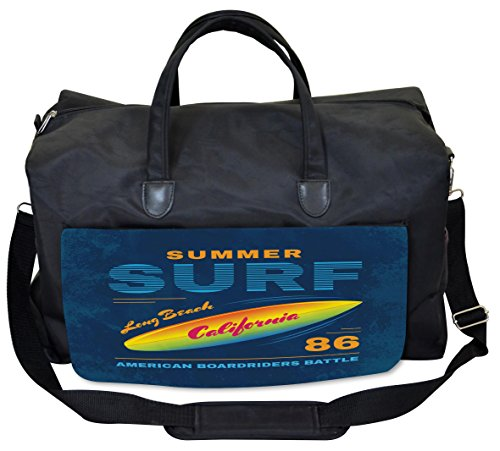Lunarable Surf Gym Bag, American Extreme Sports Waves, Large Weekender Carry-on by Lunarable