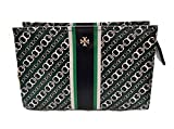 Tory Burch Gemini Link Cosmetic Case (Malachite)