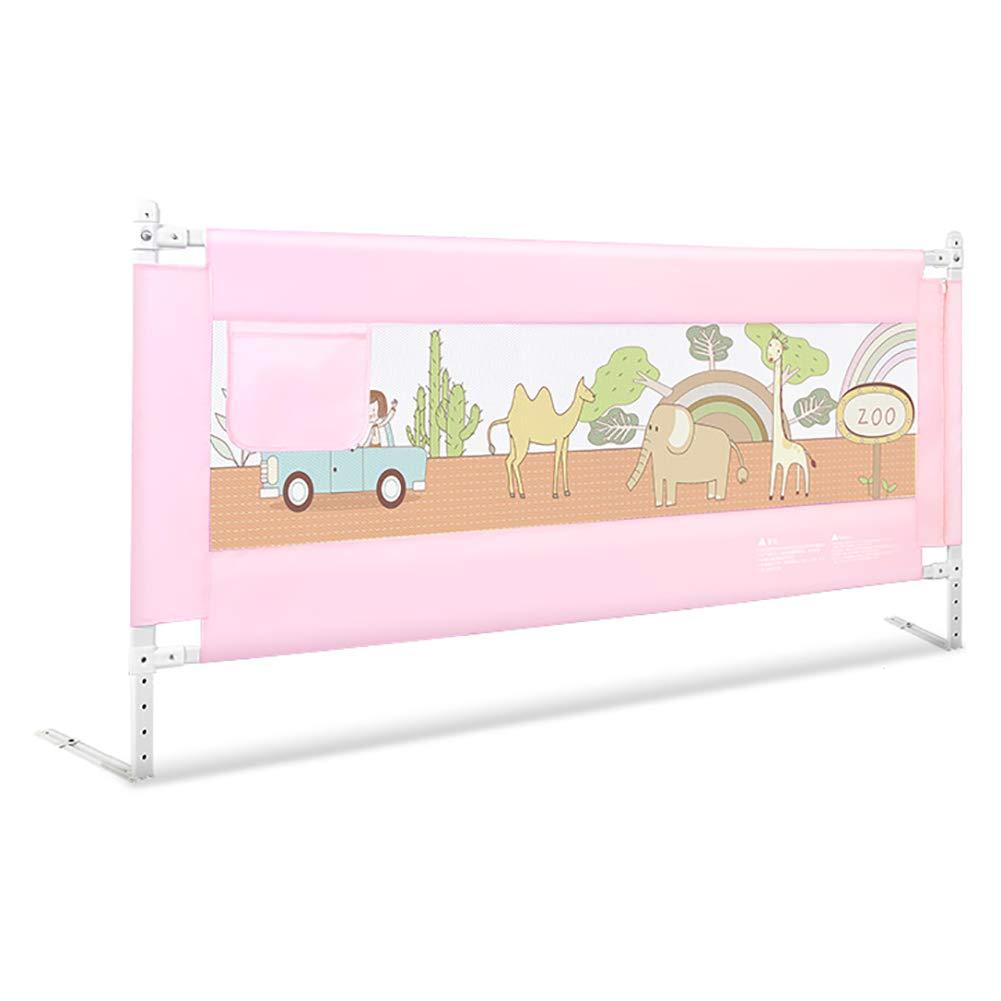 ベッドフェンス 子供のための安全なベッドレール、幼児を持ち上げるベッドレールポータブルレール、キングサイズのガードレール、クイーンサイズベッド (色 : Pink, サイズ さいず : Length 200cm) Length 200cm Pink B07LDYRRHM