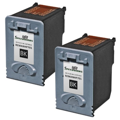 Speedy Inks - 4pk Remanufactured Replacement for HP CC635A 701 Black Ink Cartridge for use in HP FAX 640, FAX 650, FAX 2140 Photo #2