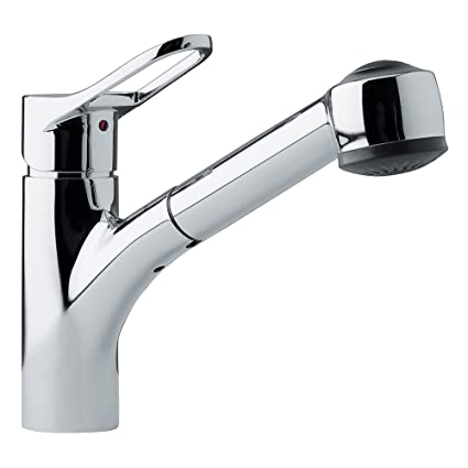 Franke FFPS200 Mambo Single Handle Pull Out Kitchen Faucet, Chrome