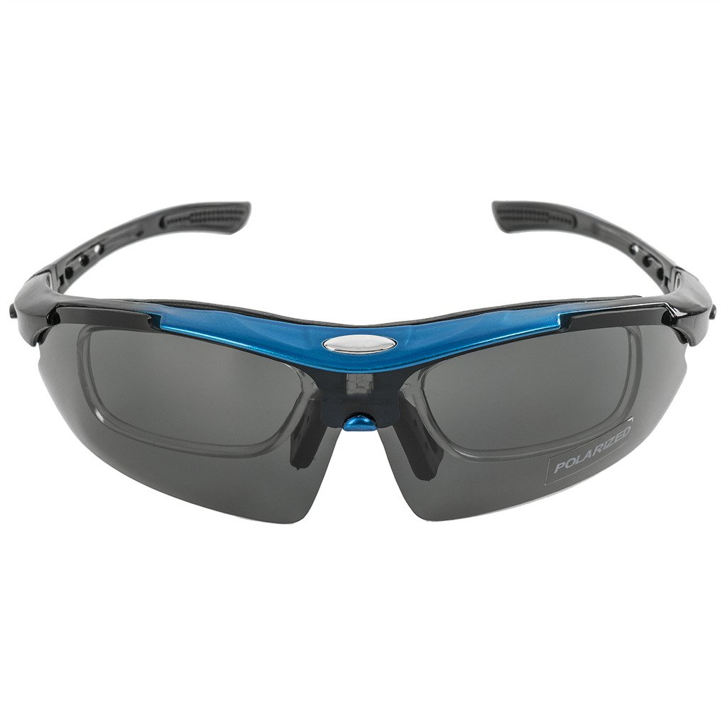 263f495f9f KT SUPPLY Gafas de Sol Deportivas Polarizadas TR90 incluye 5 tipos de lentes  intercambiables (Azul): Amazon.es: Deportes y aire libre