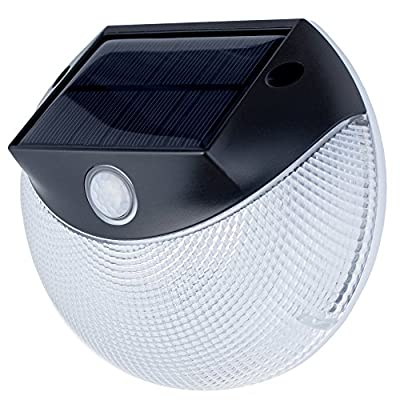 Solar Security Light - Motion Activated LED Wall Light by OUTDOOR MOOD - Warm & Bright Modes, Weatherproof Solar Light, Wall Light for Deck, Grill, Patio, Stairs, Garden, Path & Pool