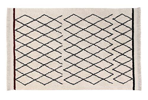 Lorena Canals Waschbarer Teppich Bereber Crisscross Natürliche Baumwolle -Beige -Beige -Beige - Schwarz - Weinrote- 210x140 cm B07C74WSD4 Teppiche & Lufer 669c6a