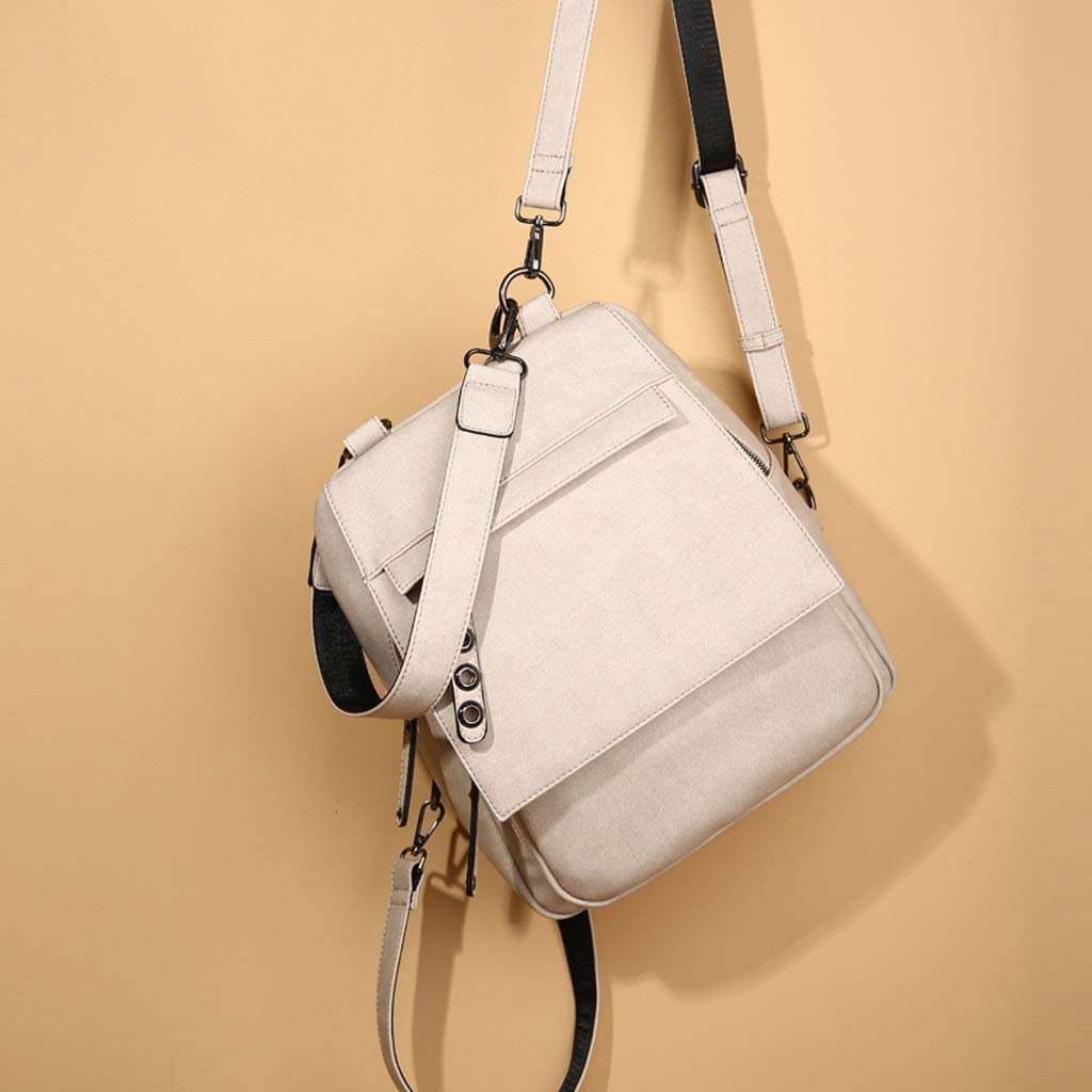 Fashion Casual Rice White Backpack Ladies Travel Bag