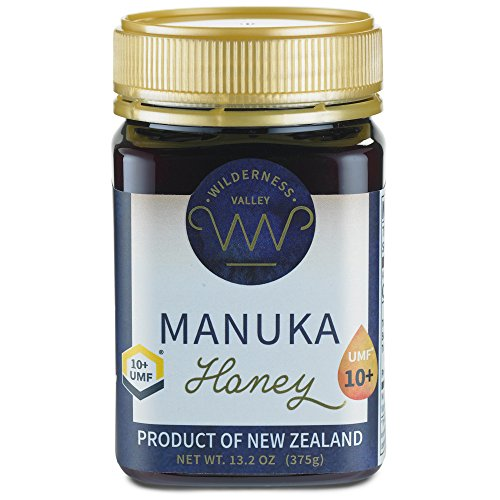 New Zealand Manuka Honey By Wilderness Valley (UMF 10+) 13.2 oz Jar, Sustainably Produced on High Country Farm, Pure & Natural