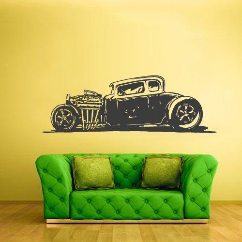 Wall Decal Vinyl Decal Sticker Decal Hot Rod Car Auto Automobile Retro Muscule z2358 STICKERSFORLIFE
