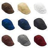 Nacome Beret Hat for Men,Outdoor Sun Visor Hat Unisex Adjustable Peaked Cap Newsboy Hat (Dark Gray) (Wine)