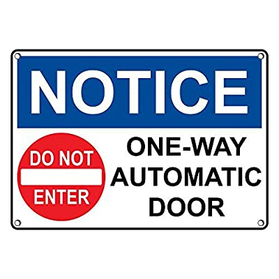 Amazon Weatherproof Plastic Osha Notice One Way Automatic Door