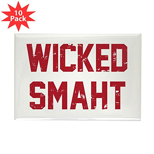 Magnet Rectangle Red (CafePress - Wicked Smaht Magnets - Rectangle Magnet, 2
