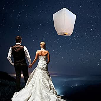 Sky Lanterns Chinese Flying Lanterns (10 Pack) - 100% Biodegradable ...