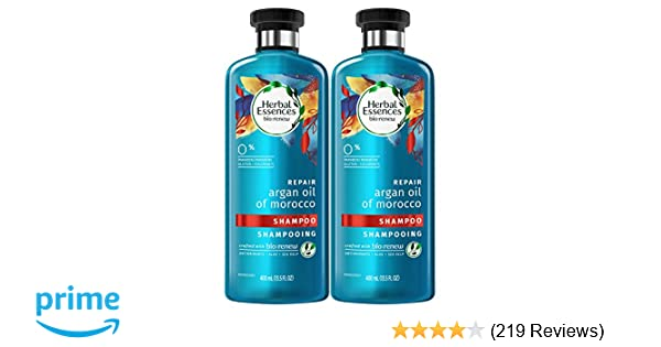 Herbal Essences Bio:renew Argan Oil of Morocco Shampoo, 13.5 Fluid Ounces Paraben Free (Pack of 2)