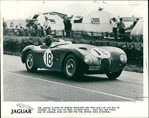 Vintage photo of Jaguar Cars: 1953 C Type Jaguar. -