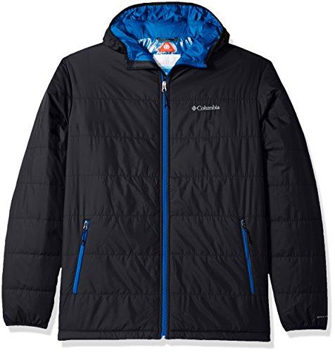 Men's Black Chutes Saddle Columbia Blue Hooded Jacket Super Tall YPxdfw