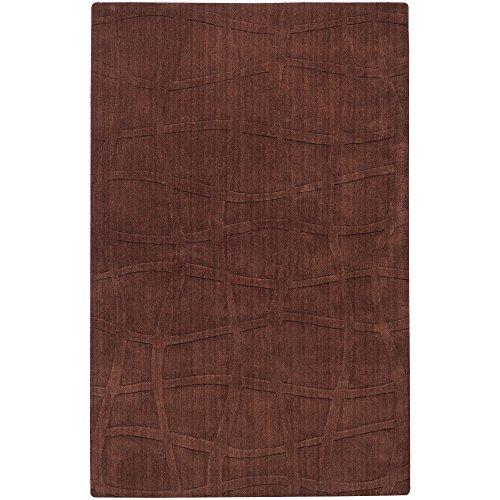 Surya Candice Olson Sculpture SCU-7500 Transitional Hand Loomed 100% Wool Dark Chocolate 9' x 13' Area Rug
