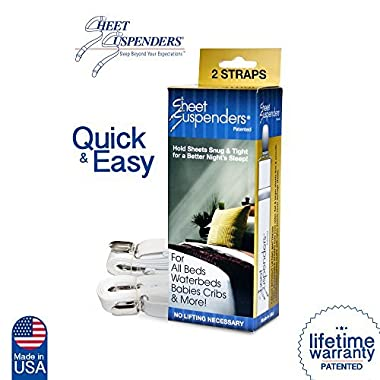Elite Sheet Suspenders ( Gripper, Fastener, Holder ) Brand New and Improved,as Featured on QVC. Sleep Like Never Before.