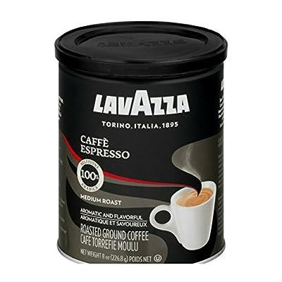 Lavazza Caffe Espresso Medium Roast Ground Coffee, 8.0 Ounce