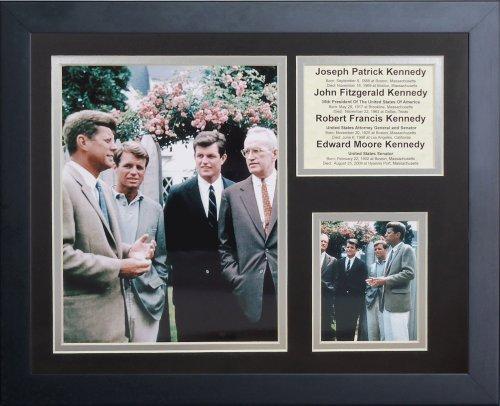 """Legenden Sterben Nie die """"KENNEDY Brothers"""" gerahmtes Foto Collage, 11 x 35,6 cm von Legends Never Die"""
