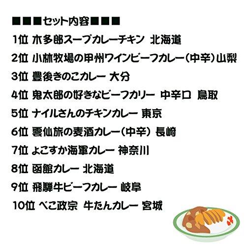【ご当地カレー詰め合わせ】当店販売レトルトカレー人気ランキングセット10種類