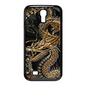 Generic Cell Phone Case For Samsung Galaxy S4 case i9500 case Classic Vintage Chinese Dragon Art Design black white Mobile Phone case Hard Plastic Snap on Slim Fit Protective Shell DIY Personalized Pattern Skin