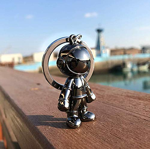 Astronaut Keychain Pendant, Dinosaur Keyring Space Robot Car Key Holder for Men/Women, Space lover Gifts, Bag charm
