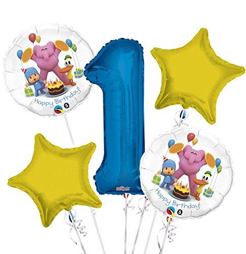 Pocoyo Balloon Bouquet 1st Birthday 5 pcs - Party -