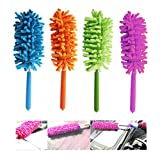 1 x Telescopic Microfiber Duster Extendable Cleaning Dust Home Office Car Tool