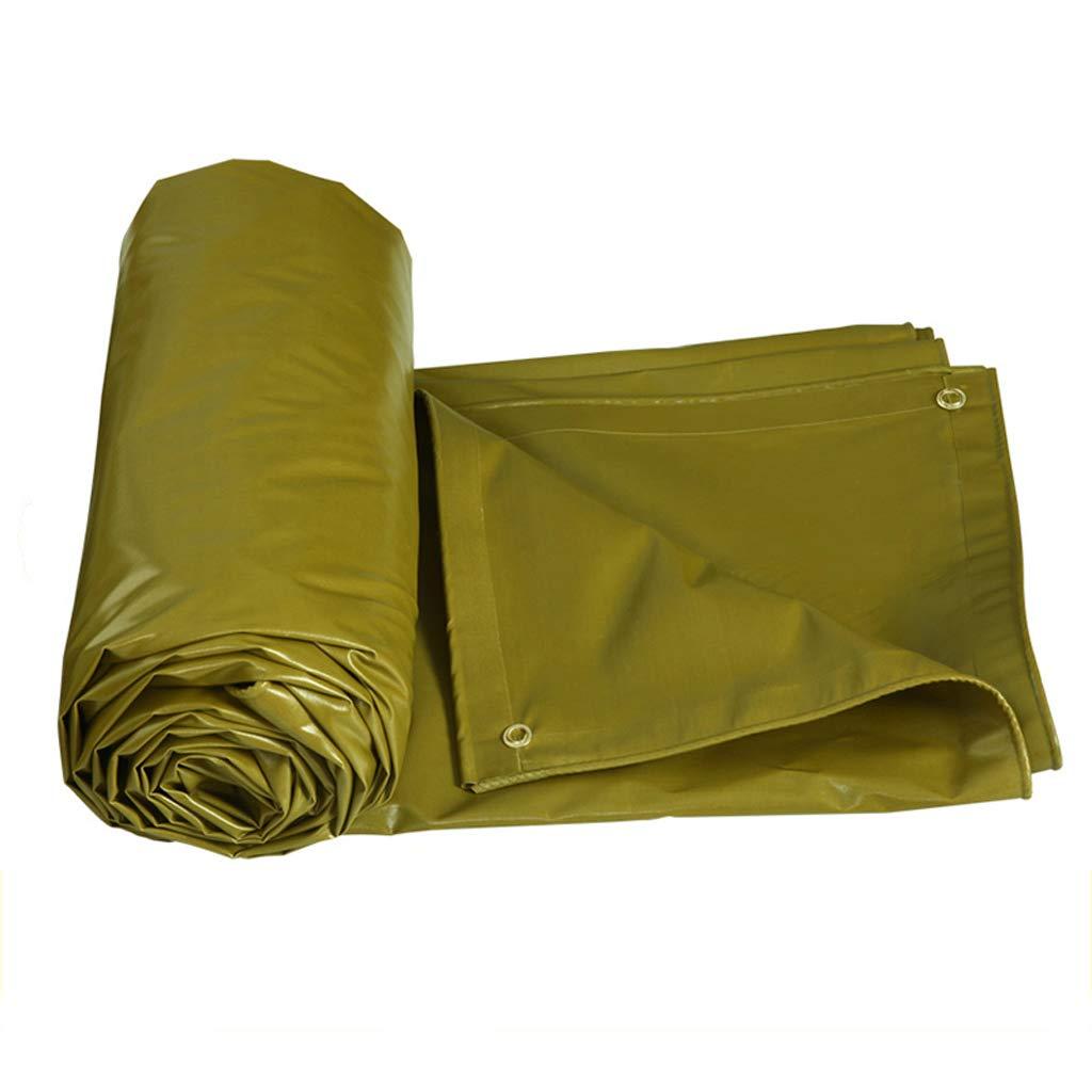 防水布、ミリタリーイエロー防水日除けターポリン屋外シェルターターポリン、マルチサイズ 4*6m  B07JXQXTQR
