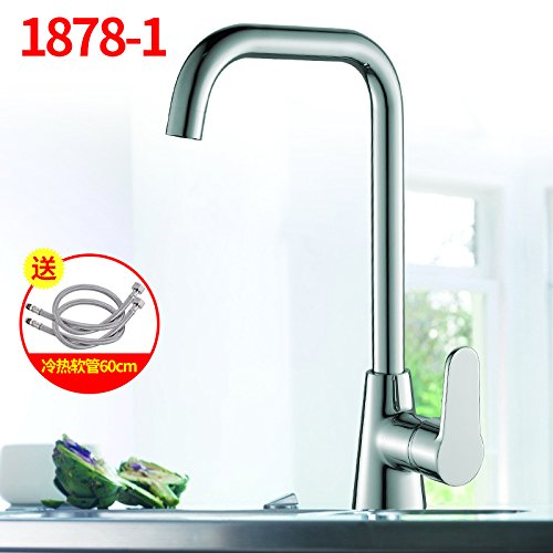 1878-1 SunSui The kitchen sink Xicai basin faucet stainless steel kitchen sink faucet basin redatable copper body,1878-1