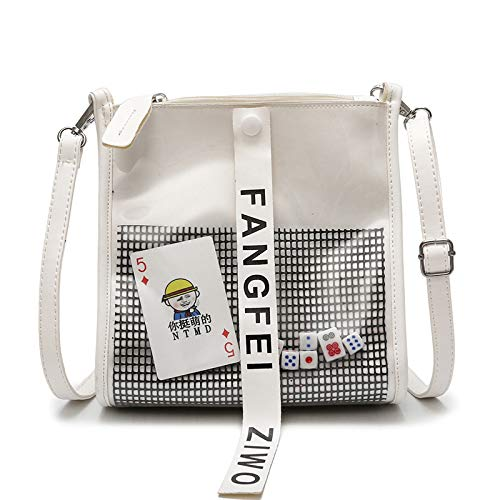 Personalità Trasparente A Contrasto Donna Da Bag Bianco Capacità Messenger Saoga Coreana Ragazza Giallo Grande Mahjong Colore Borsa Moda Dadi xS0YwWznXq