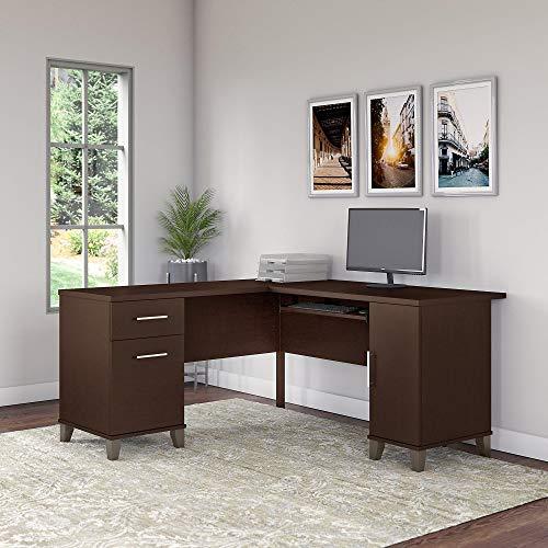 Bush Furniture Somerset 60W L Shaped Desk in Mocha Cherry ()