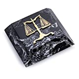 KensingtonRow Home Collection Paperweights - Scales of Justice Marble Paperweight - Legal Profession Paperweight - Desk Accessory - Lawyer Gifts