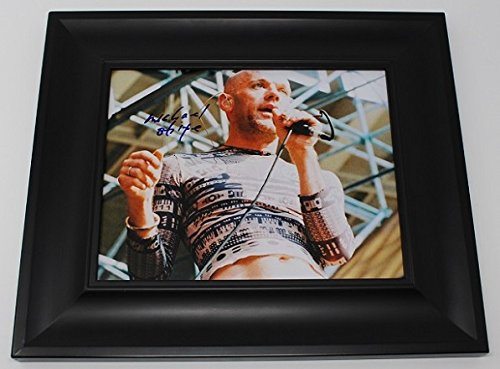 (R.E.M. Shiny Happy People Michael Stipe Signed Autographed 8x10 Glossy Photo Gallery Framed Loa)