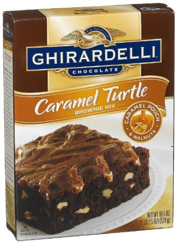 Turtle Brownie - Ghirardelli Turtle Brownie Mix - 18.5 oz - 2 pk
