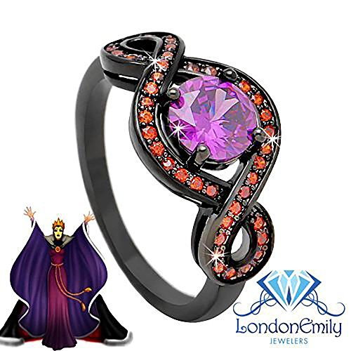 London Emily Jewelers Mirror Mirror On The Wall Evil Queen from Snow White Disney Inspired Ring