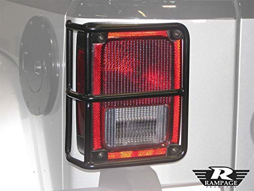 RAMPAGE PRODUCTS 88660 Black Euro Taillight Guards for 2007-2018 Jeep Wrangler JK ()