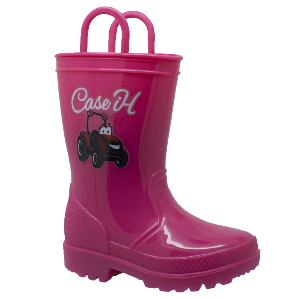 Case IH PVC Boot Light-Up Girls Toddler-Youth Boot 12 M US Little Kid Pink