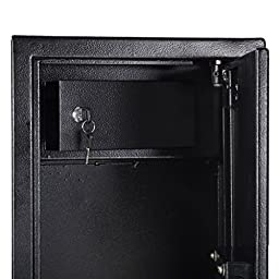 Goplus 2 Key 6 Gun Rifle Storage Cabinet Case Safe Rack Pistol Wall Shotgun Security