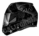 TORC Unisex-Adult Full-face Style T27B Modular Motorcycle Helmet Integrated Blinc Bluetooth with Graphic (Rebulic) (Flat Black Republic, Large)