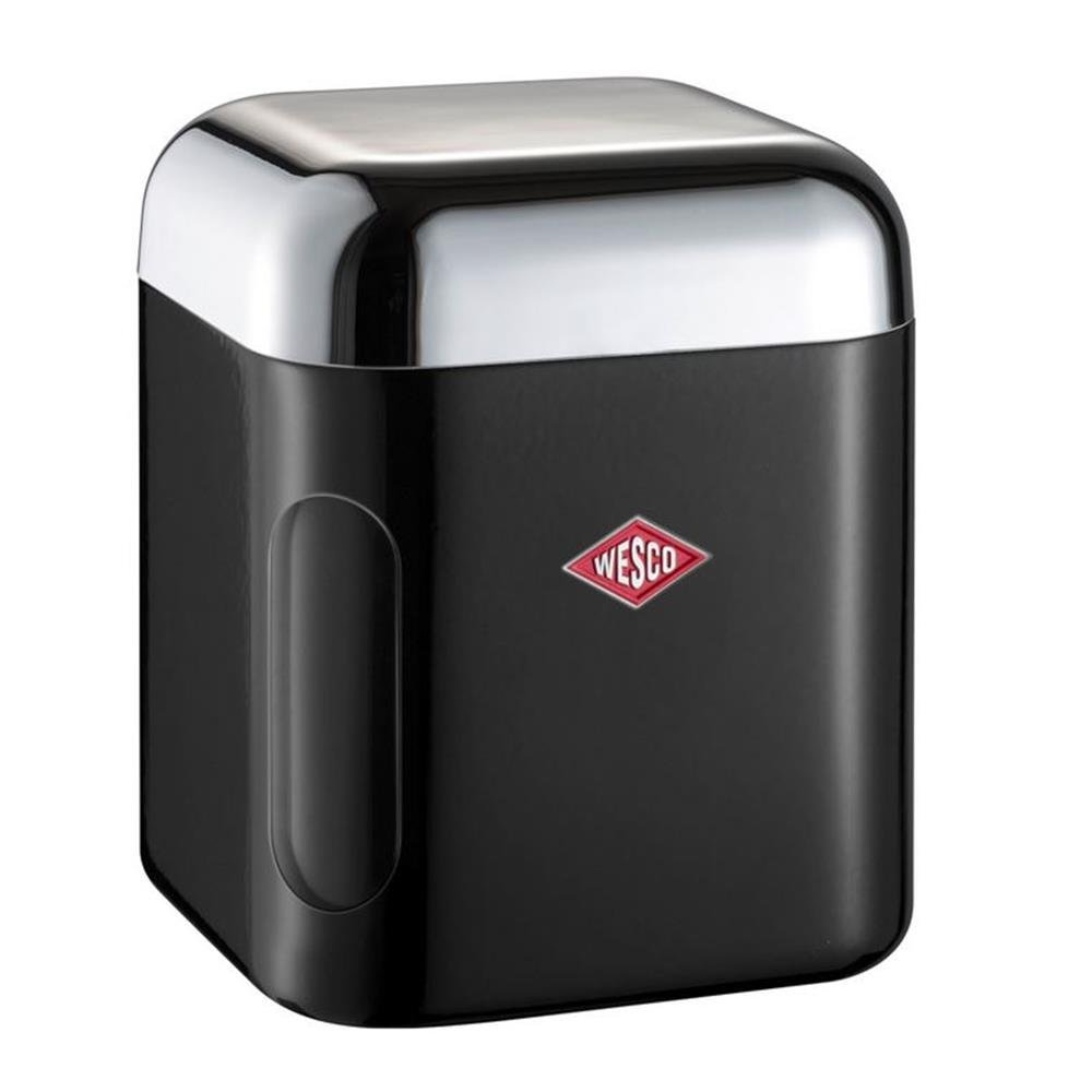 Wesco 321202–62–Barattolo rettangolare, plastica, nero, 11x 11x 13cm 321202-62