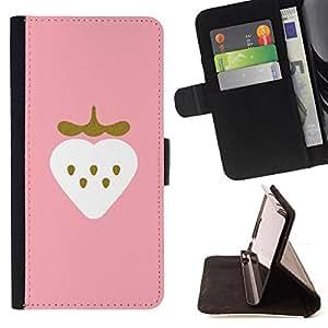 BullDog Case - FOR/LG G2 D800 / - / strawberry minimalist gold bling heart /- Monedero de cuero de la PU Llevar cubierta de la caja con el ID Credit Card Slots Flip funda de cuer