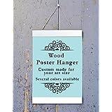 White Wood Poster Hanger, Custom size Art Hanger, poster frame, picture hanger, White Wood, Handmade Frame
