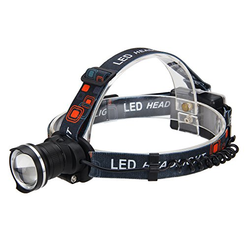 Ducati Dog Monster - VastFire Headlamp Flashlight XM-L T6 Led - Head Torches Headlight Perfect for Dog Walking, Camping, Reading, Hiking, Backpacking, Kids; 3AA Battery (Not Include)