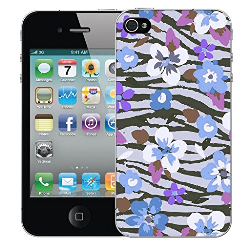Mobile Case Mate iphone 5 Dur Coque couverture case cover Pare-chocs - blue botanic Motif