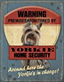 Warning Yorkie Security Service Scenic Tin Sign by Mia Lane