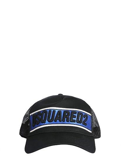 6af6ca56467480 Dsquared2 Men's Bcm015813550001m041 Black Cotton Hat: Amazon.co.uk: Clothing