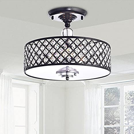 Martina antique black crystal 3 light flush mount chandelier martina antique black crystal 3 light flush mount chandelier aloadofball Images